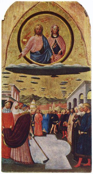 masolino the foundation of santa maria maggiore c15th