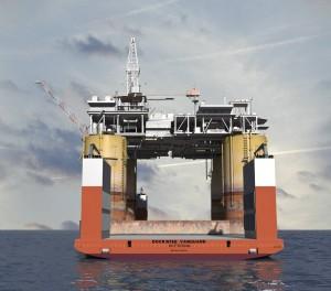 3D Dockwise Vanguard - Oil Rig 003