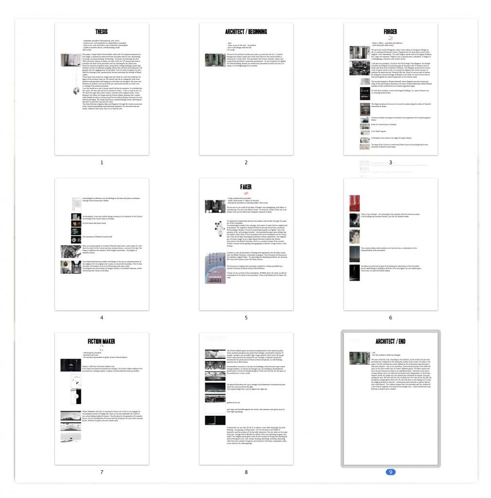 contact sheet presentation