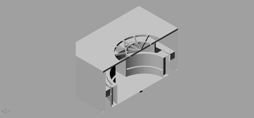 3d model, Warburg Library Reading Room