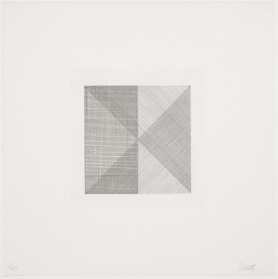 Untitled from Squares with a Different Line Direction in Each Half Square