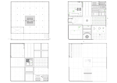Format Factory v01 (Basement, Ground Floor, First Floor and Second Floor Plans)