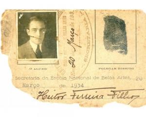 1929-carteira Escola Belas Artes