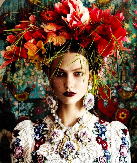 Dolce & Gabbana (fall-winter 2012) Vogue USA – fotografía por Mario Testino.