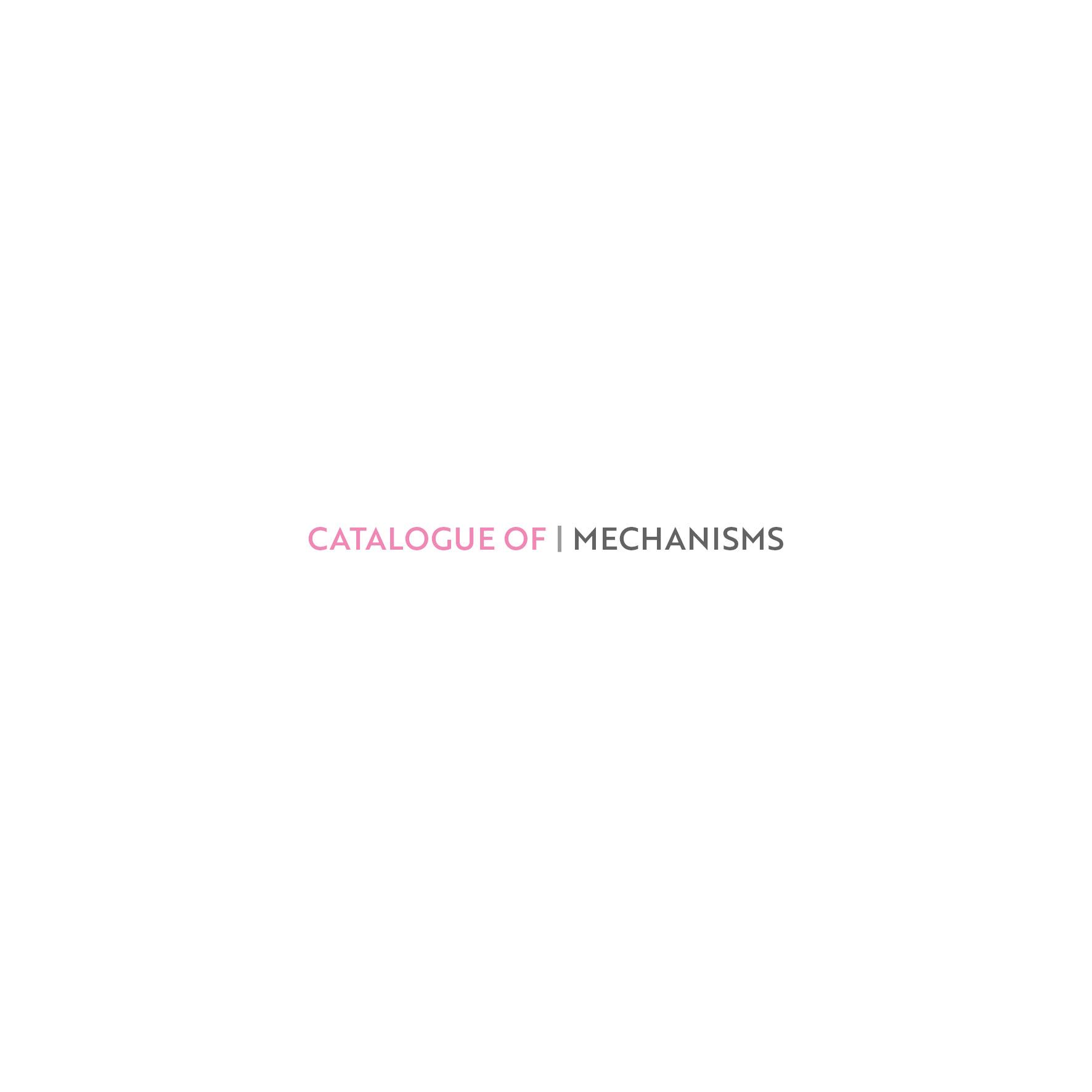 Catalogue of mechanisms2